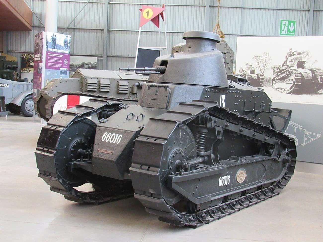 Renault FT is listed (or ranked) 2 on the list The Greatest World War 1 Tanks