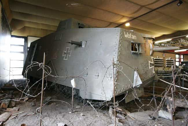 A7V is listed (or ranked) 7 on the list The Greatest World War 1 Tanks
