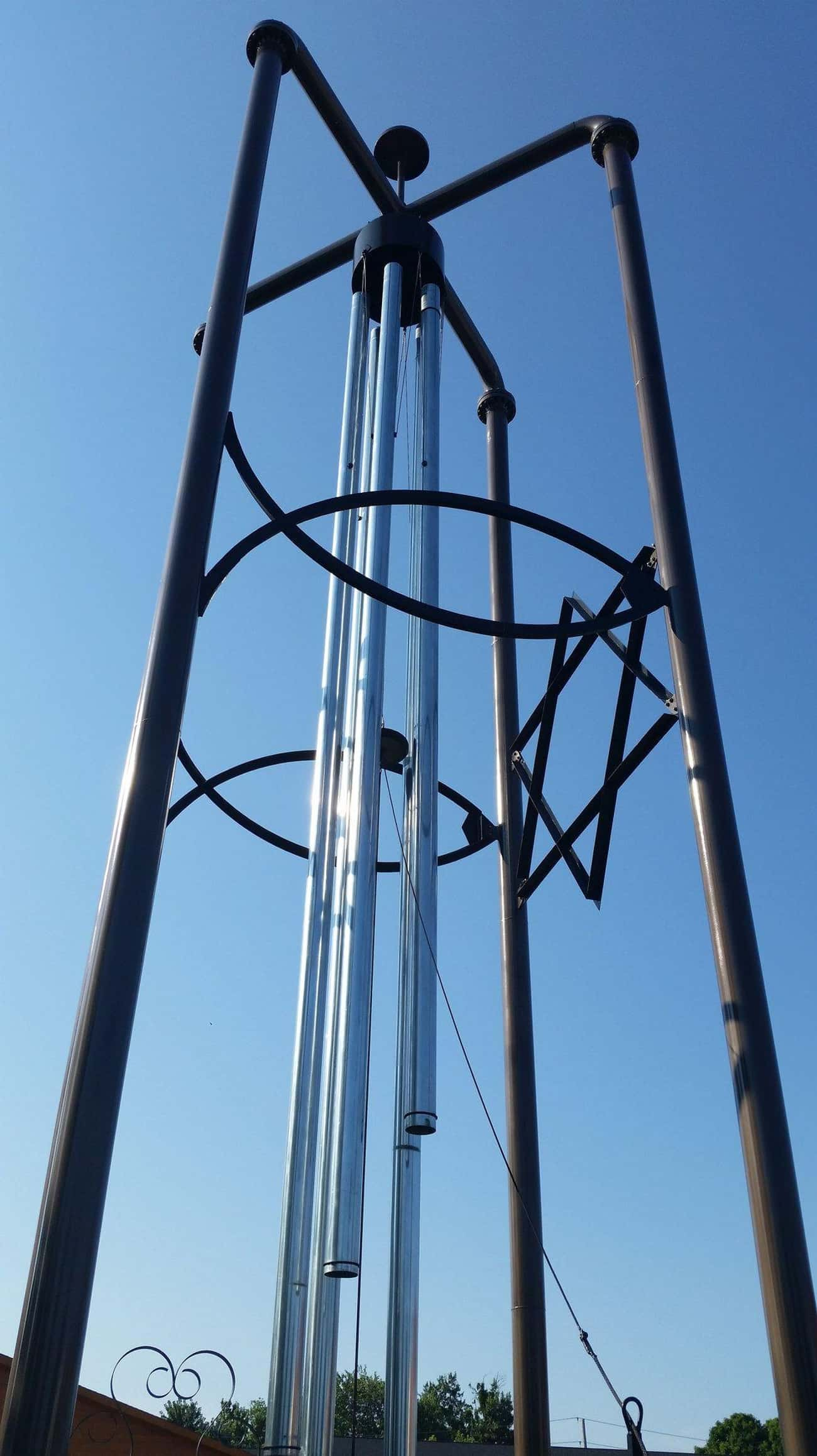World's Largest Wind Chime is listed (or ranked) 4 on the list The Most Pointlessly Large Roadside Attractions in the U.S.