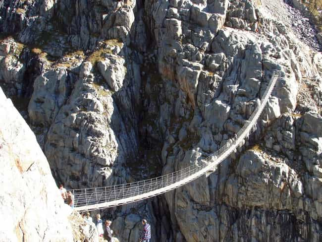 Thank God for Those Rocky Crag... is listed (or ranked) 3 on the list 29 Of The World's Most Terrifying Bridges