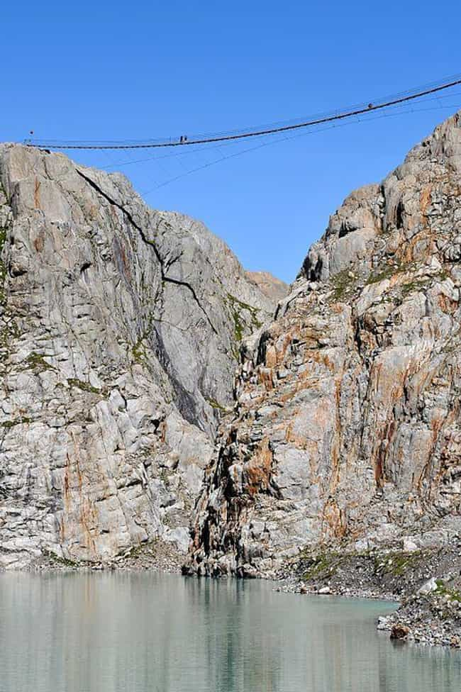 This Death Trap Over Wat... is listed (or ranked) 4 on the list 29 Of The World's Most Terrifying Bridges