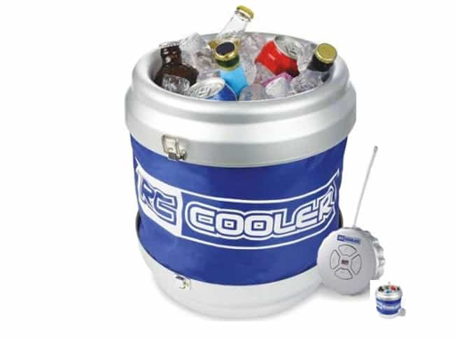 Remote Control Beer Cooler is listed (or ranked) 2 on the list Products for People Who Love Booze
