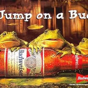The Budweiser Frogs is listed (or ranked) 3 on the list The Greatest Animals in Commercials
