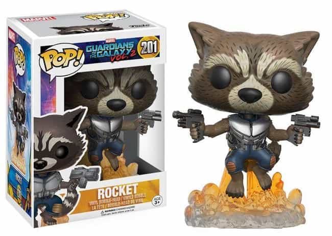 Rocket Raccoon is listed (or ranked) 4 on the list The Best Marvel Pop Funko Figures