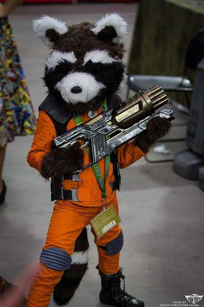 Rocket Raccoon is listed (or ranked) 4 on the list 23 Adorable Little Kid Cosplayers Who Will Make You Believe In The Future