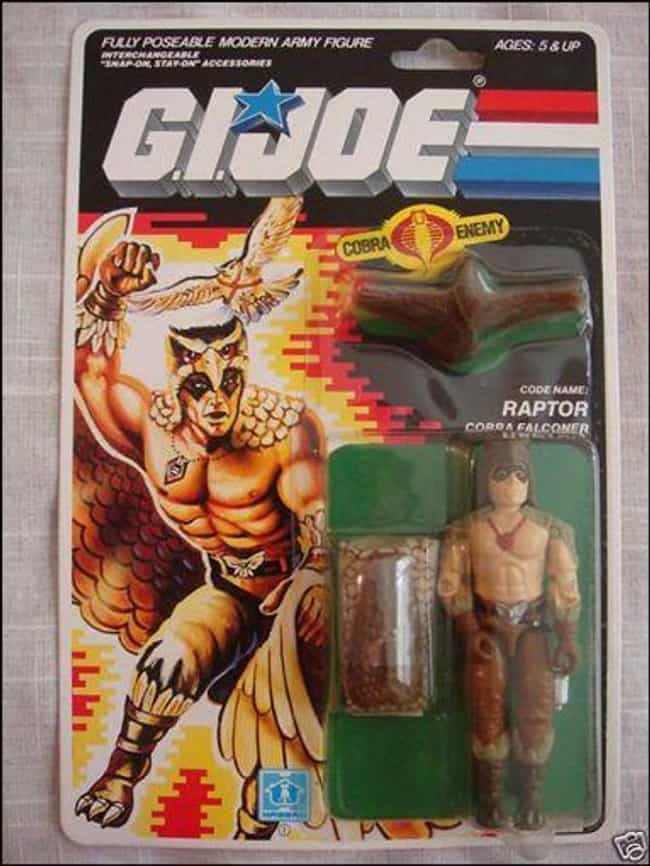 Raptor is listed (or ranked) 1 on the list The Strangest G.I. Joe Figures of All