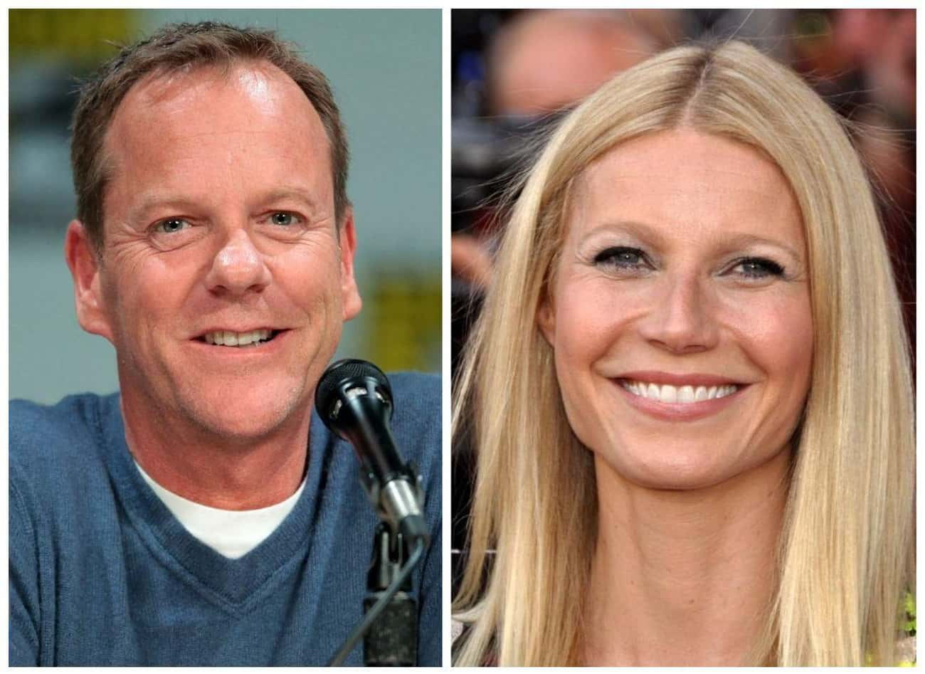 Kiefer Sutherland and Gwyneth  is listed (or ranked) 2 on the list 17 Celebrities Who Babysat Other Celebrities