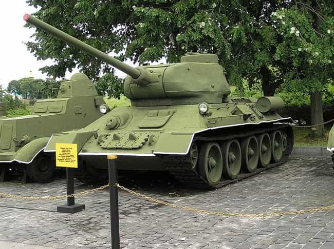 T-34 is listed (or ranked) 3 on the list The Greatest World War 2 Tanks