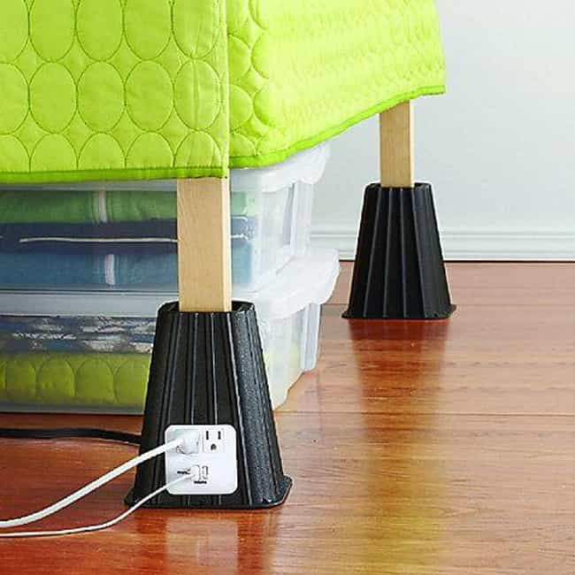 Bed Risers is listed (or ranked) 2 on the list 28 Products All College Students Should Own