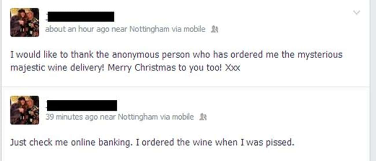 It's Like He's His Own is listed (or ranked) 3 on the list 15 Drunk Facebook Posts You're Glad You Didn't Write