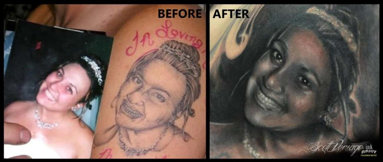What a Difference a New Tattoo is listed (or ranked) 4 on the list 44 Genius Ideas for Cover Up Tattoos