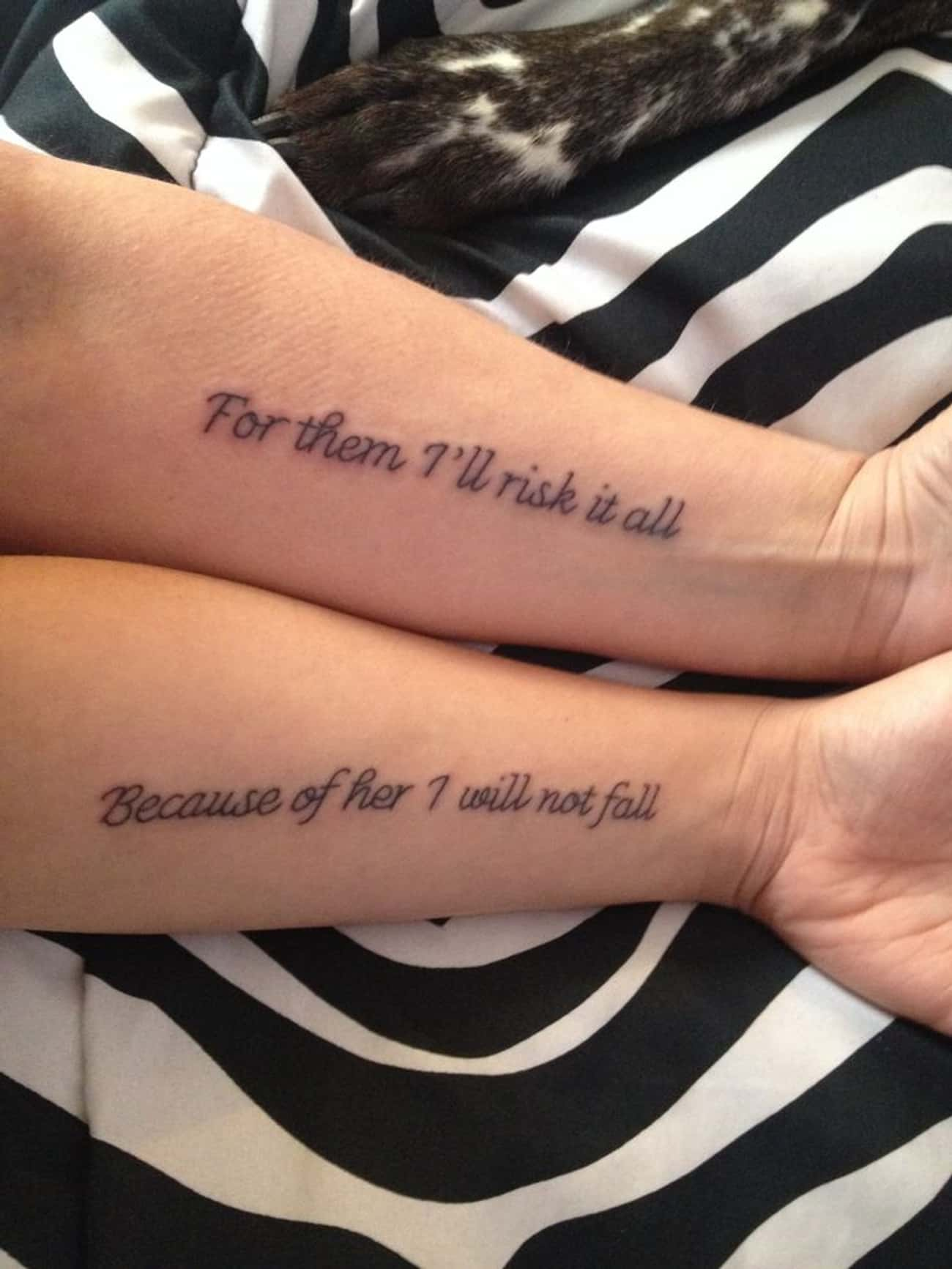 This Mom And Daughter Are The  is listed (or ranked) 4 on the list Parents Who Got Tattoos to Match Their Kids