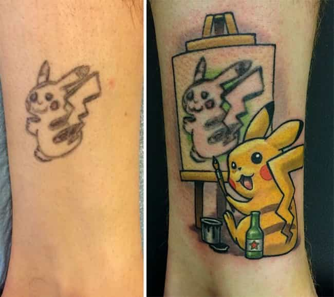 Cover Up Tattoos Best Coverup Tattoo Ideas