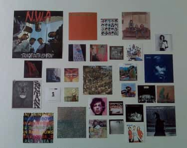 Album Covers As Art is listed (or ranked) 2 on the list The Lamest Things You Probably Had in Your Dorm Room