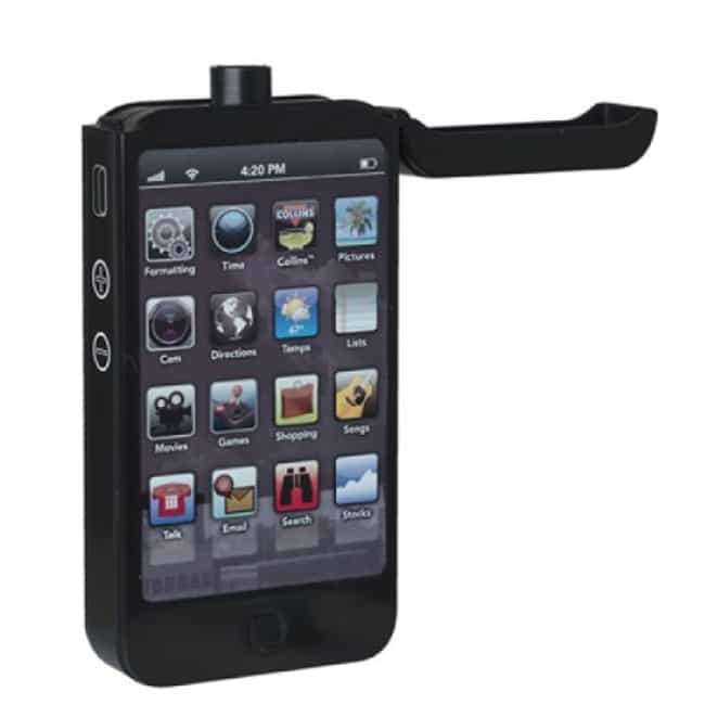 Iphone Flask is listed (or ranked) 4 on the list 21 Cool Flasks That Make Drinking Way More Fun