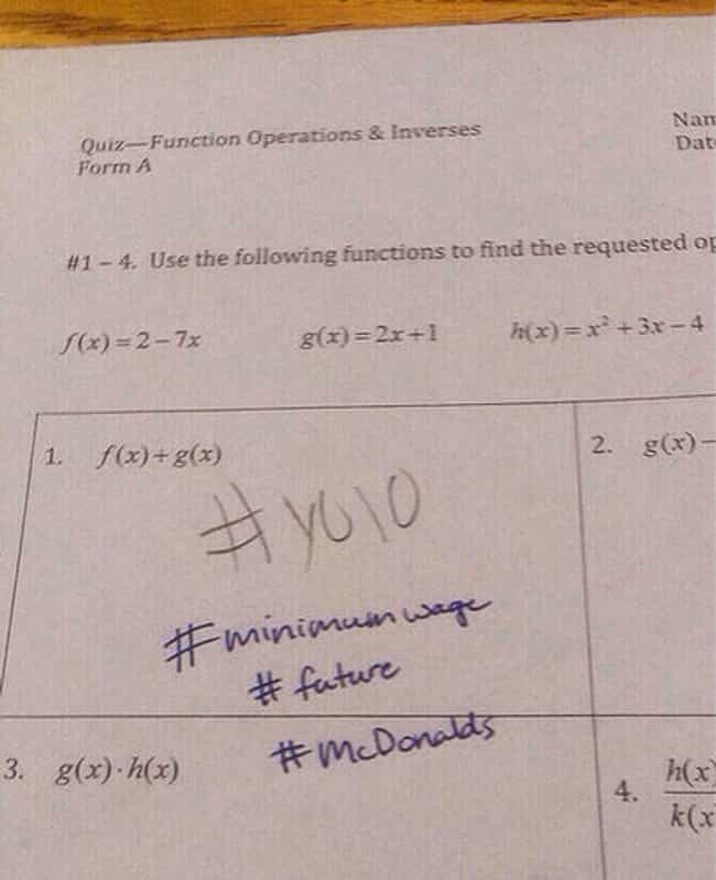 31 Hilarious Teacher Test Comments