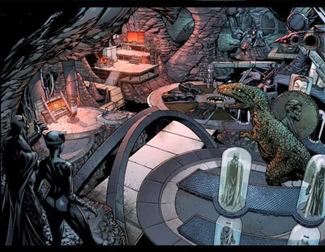 Forever Evil is listed (or ranked) 3 on the list 25 Different Versions of Batman's Batcave, Ranked