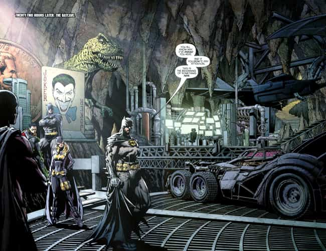 Batman: Cataclysm is listed (or ranked) 4 on the list 25 Different Versions of Batman's Batcave, Ranked