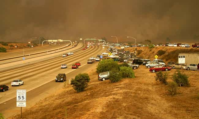 Cedar Fire is listed (or ranked) 7 on the list The Worst California Wildfires in History