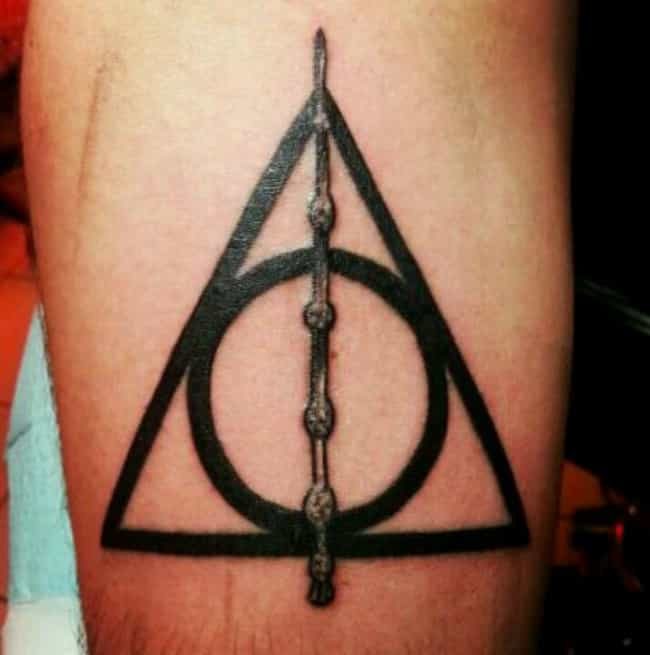 A Simple and Awesome Deathly H... is listed (or ranked) 3 on the list The Most Magical Harry Potter Tattoos