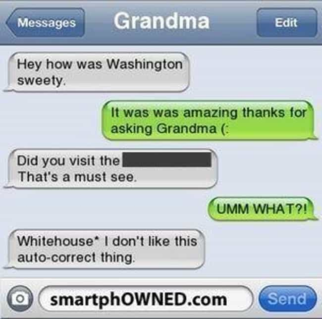 This Granny Knows Her History is listed (or ranked) 7 on the list 31 Reasons Why Grandma Is the Best Texter