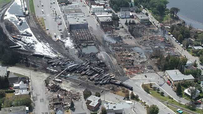 Lac-Mégantic Rail Disas... is listed (or ranked) 2 on the list The Worst Explosions in History