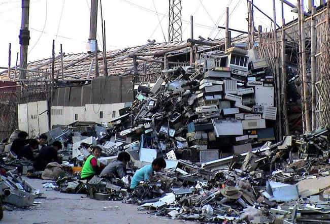 Guiyu's E-Waste Graveyard is listed (or ranked) 1 on the list The Worst Man-Made Disasters in China