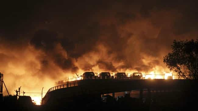 Tianjin Chemical Explosion is listed (or ranked) 2 on the list The Worst Man-Made Disasters in China