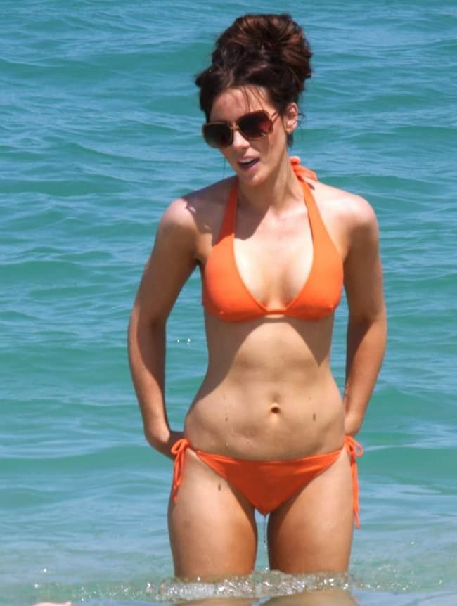 Kate Beckinsale In Her Orange Is Listed Or Ranked 2 On