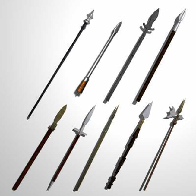 Spear is listed (or ranked) 3 on the list The Most Iconic Ancient and Medieval Weapons