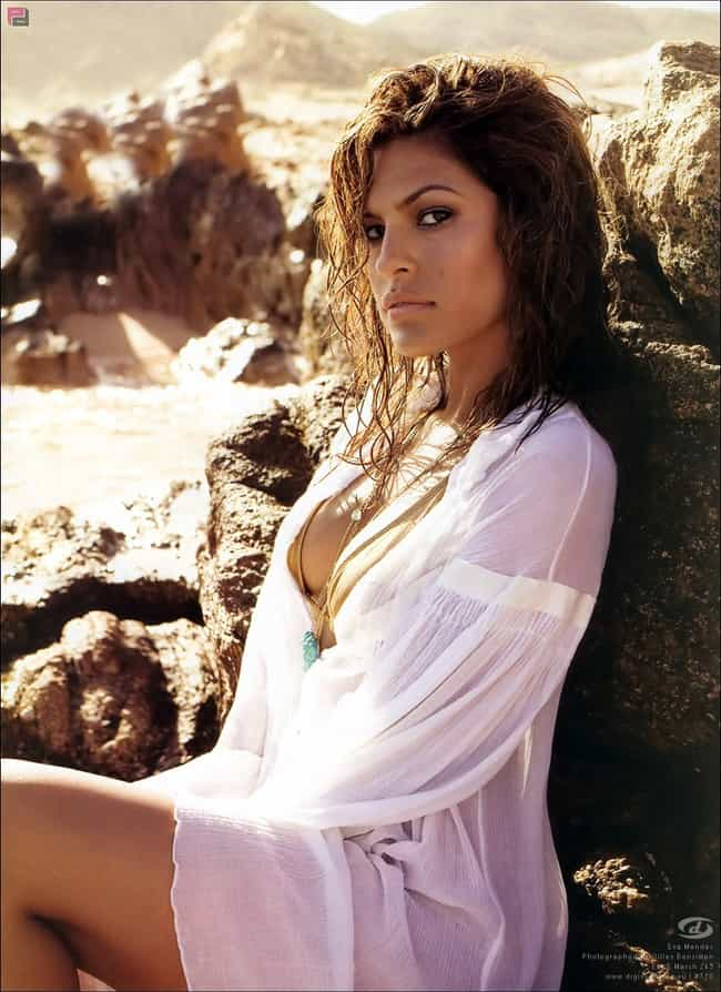 Eva Mendes in her sexy white d... is listed (or ranked) 3 on the list The Hottest Eva Mendes Bikini Pictures