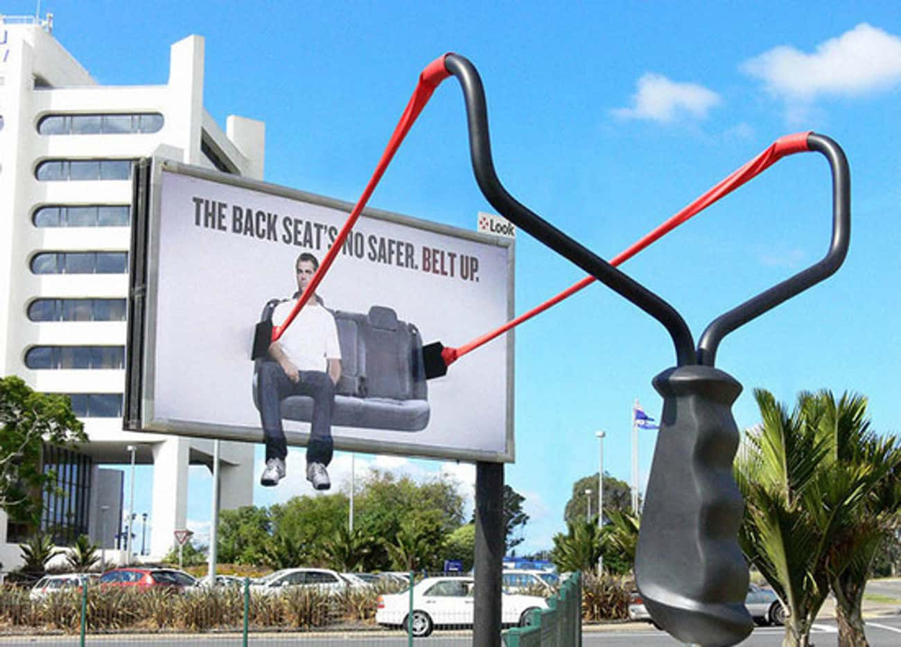 If This Giant Slingshot Doesn' is listed (or ranked) 3 on the list Awesome Outdoor Advertisements