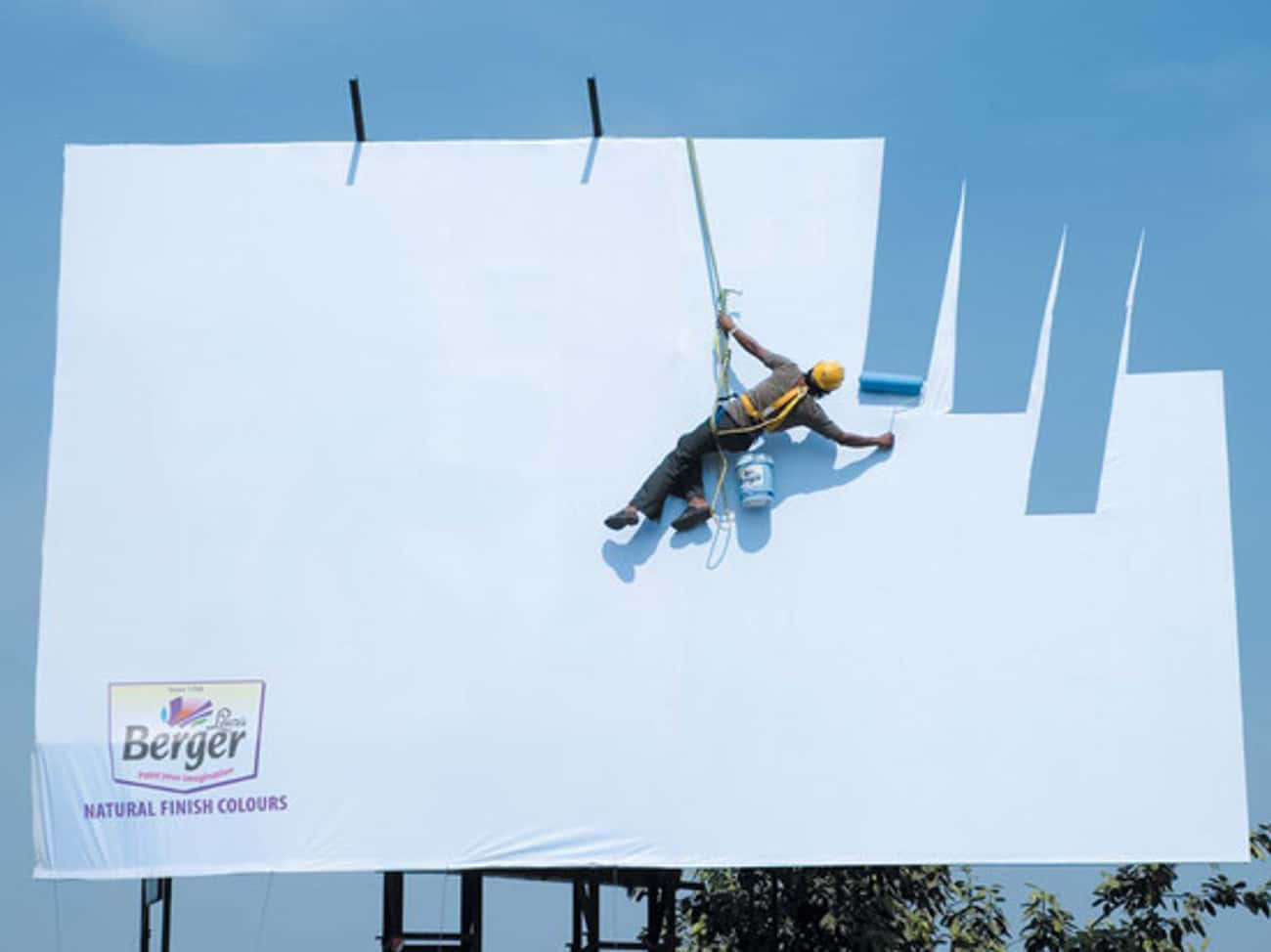 Super Clever Ad For 'Sky Color is listed (or ranked) 4 on the list Awesome Outdoor Advertisements