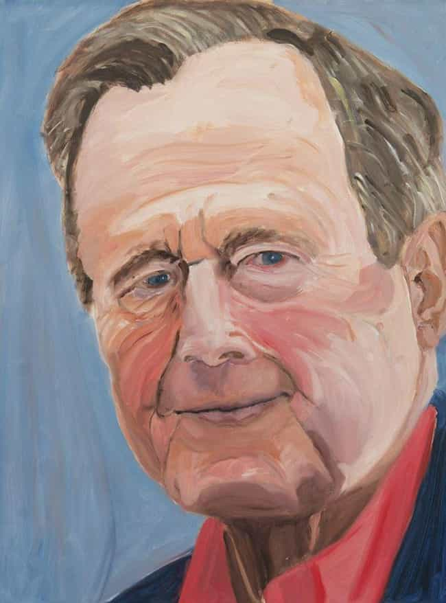 George H.w. Bush is listed (or ranked) 8 on the list All 33 George W. Bush Original Paintings That Were Made Public