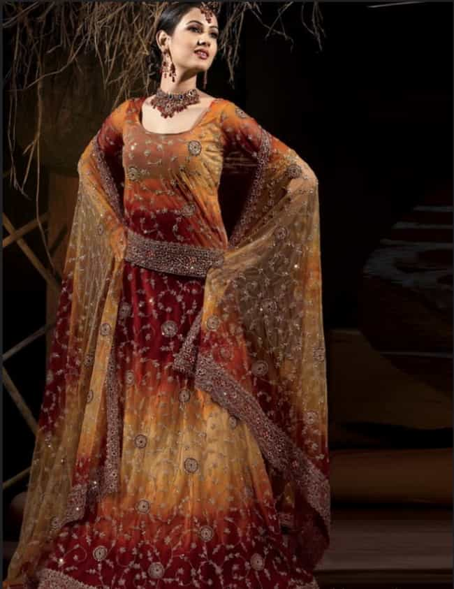 Pakistan - Lehenga is listed (or ranked) 4 on the list Wedding Dresses from Around the World