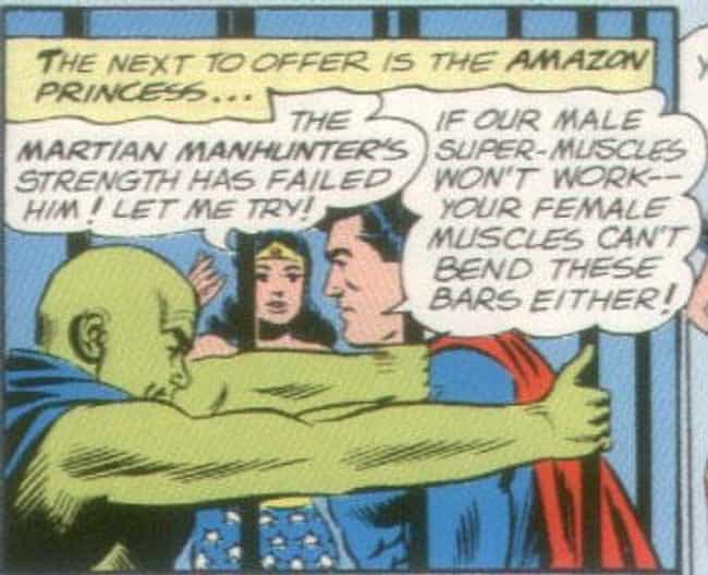 Wonder Woman Is A Weakling is listed (or ranked) 4 on the list The Most Sexist Moments in Comics