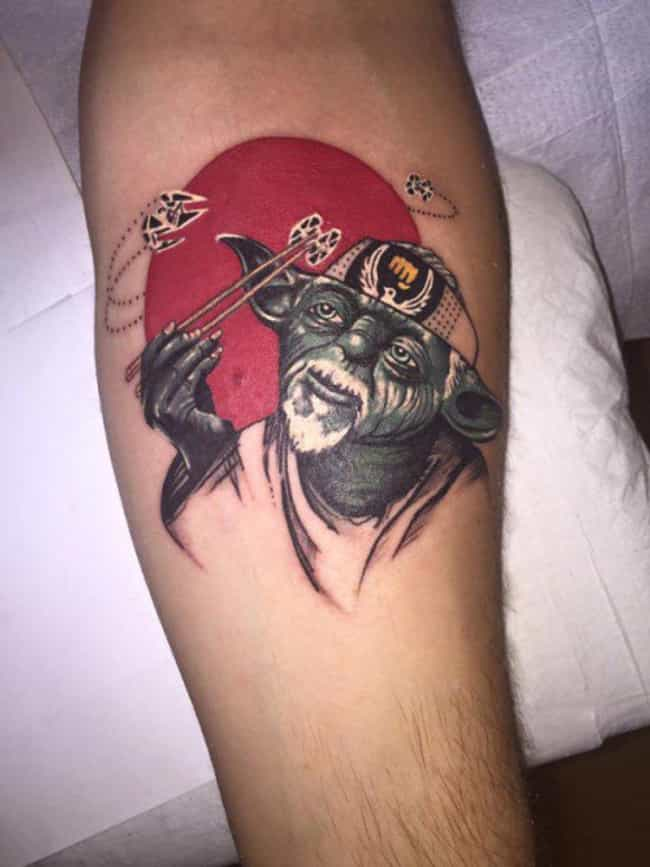 Force on, Force Off is listed (or ranked) 3 on the list Awesome Mashup Tattoos for Indecisive Fans