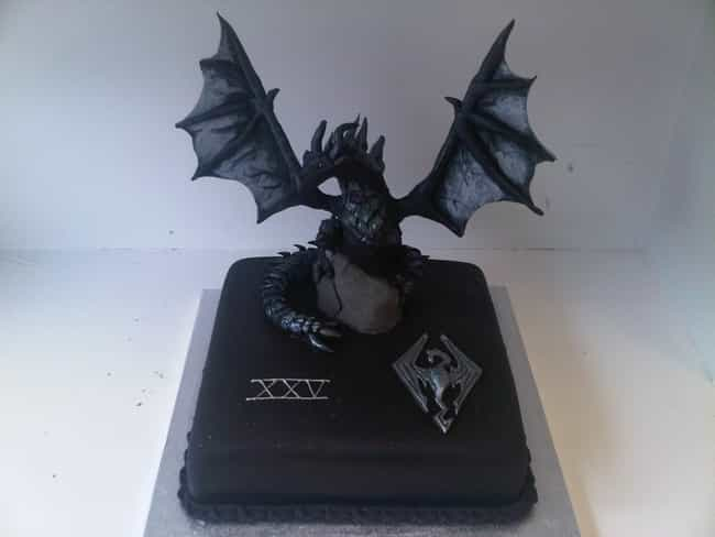 Skyrim's Dragons Are Sugary Sw... is listed (or ranked) 3 on the list Video Game Cakes We Want for Our Next Birthday