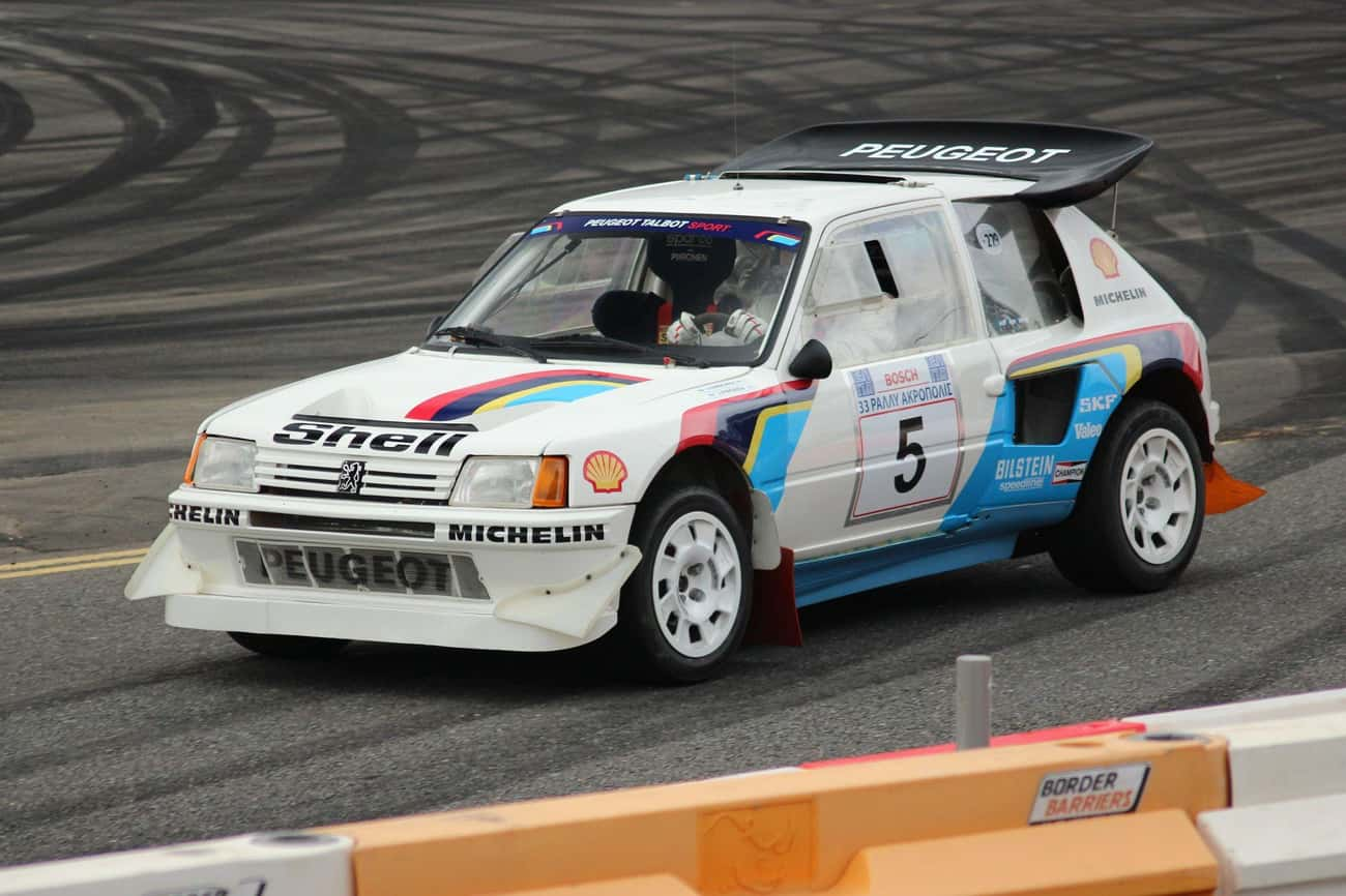 Peugot 205 T16 is listed (or ranked) 4 on the list The Best Rally Cars Ever Put Together