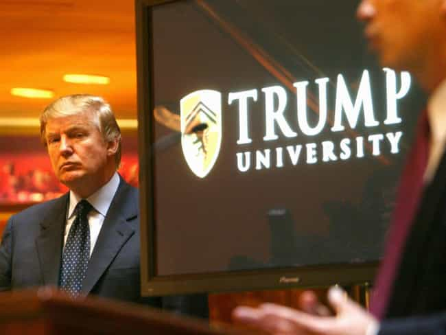 Trump University is listed (or ranked) 4 on the list Donald Trump's 14 Most Epic Business Failures