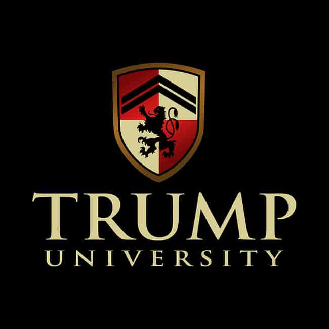 Trump University is listed (or ranked) 3 on the list Donald Trump's 14 Most Epic Business Failures