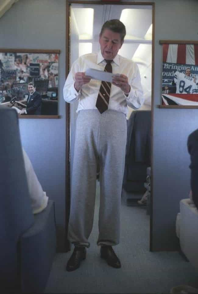 Ronald Reagan's Sweatpants... is listed (or ranked) 1 on the list 15 Terrible Moments in Presidential Style
