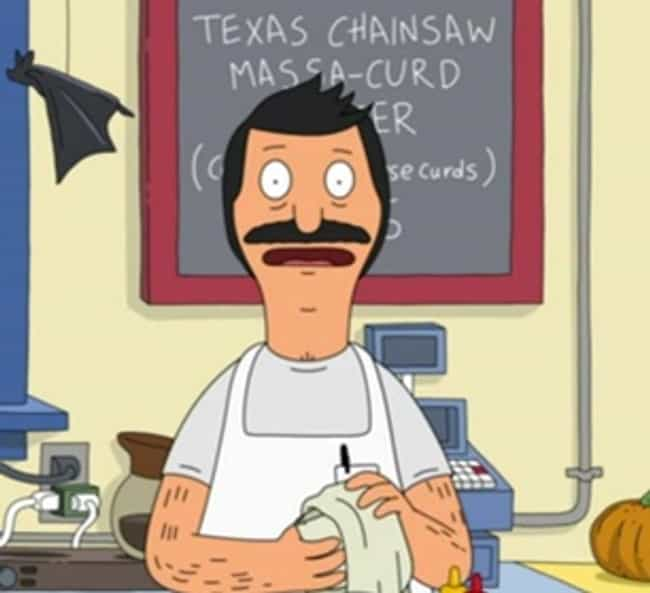 Texas Chainsaw Massa-Cur... is listed (or ranked) 1 on the list The Funniest Burger Puns on Bob's Burgers