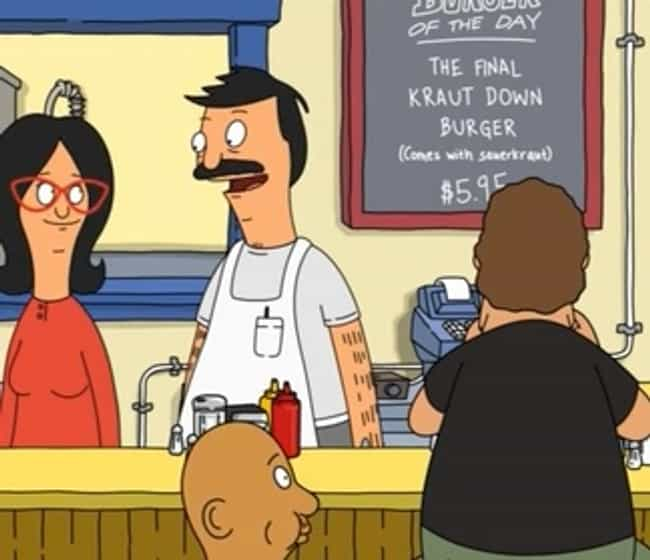 The Final Kraut Down Bur... is listed (or ranked) 2 on the list The Funniest Burger Puns on Bob's Burgers