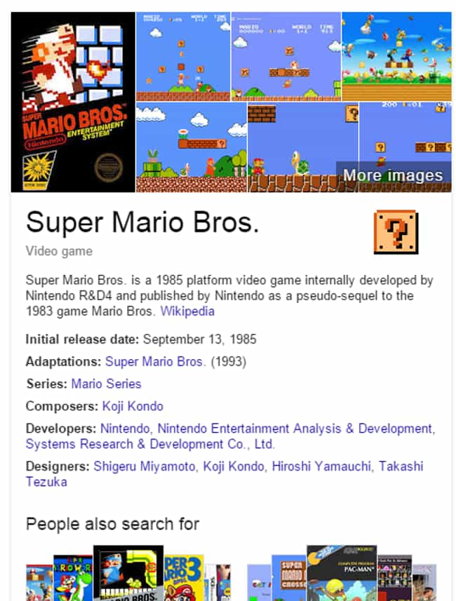 Super Mario Bros. Coin B... is listed (or ranked) 4 on the list The Best Google Easter Eggs