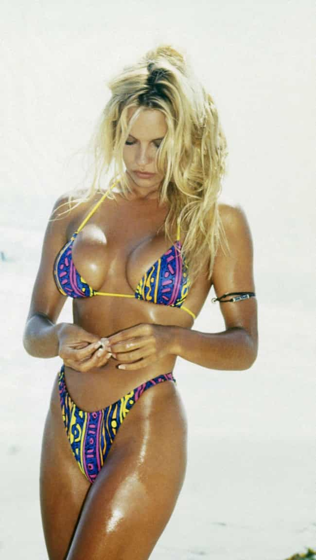 Pamela Anderson Glistening is listed (or ranked) 2 on the list The Hottest Pamela Anderson Bikini Pictures