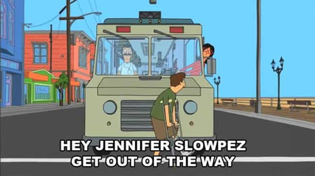 Linda's Road Rage Is Puntastic is listed (or ranked) 4 on the list Linda's Most Linda Moments on Bob's Burgers