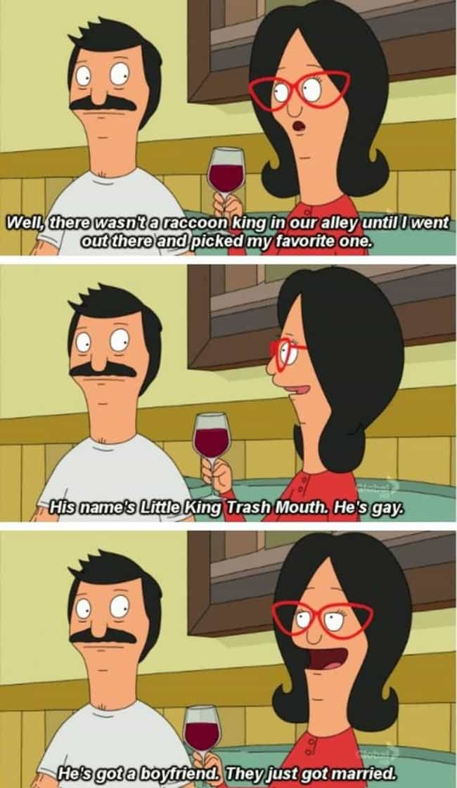 She Reveals Her Unique Relatio... is listed (or ranked) 2 on the list Linda's Most Linda Moments on Bob's Burgers