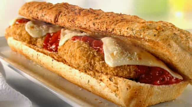 The Chicken Parmesan is listed (or ranked) 4 on the list Subway Secret Menu Items