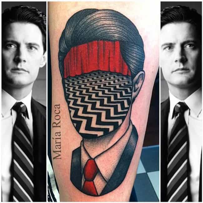 A Path Is Formed by Laying One... is listed (or ranked) 4 on the list 24 Incredible Tattoos Inspired by Twin Peaks
